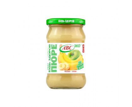 Пюре яблочно-банановое АВС 280г