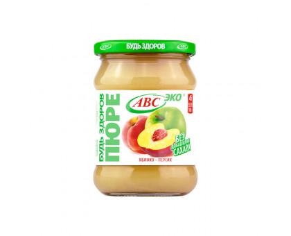 Пюре яблочно-персиковое АВС 450г