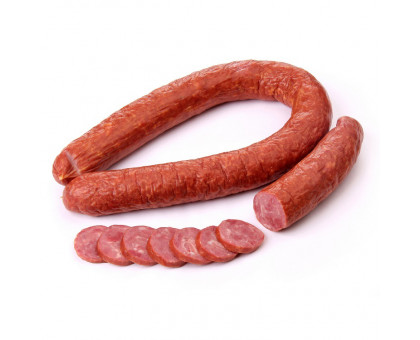 Колбаса Говяжья варено-копченая 1сорт натуральная оболочка газ