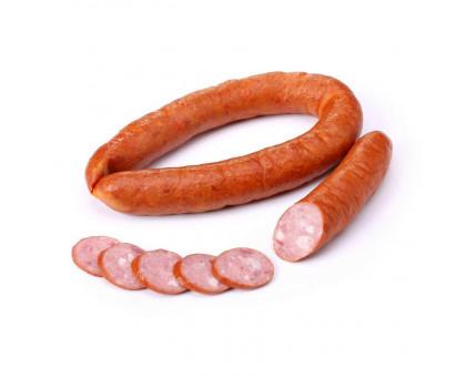 Колбаса Правдинская  мясная полукопченая 1сорт натуральная оболочка газ