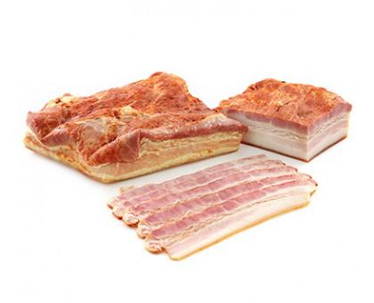 Продукт из мяса свинины копчено-вареный ГРУДИНКА БЕЛОВЕЖСКАЯ ОРИГИНАЛЬНАЯ вакуум