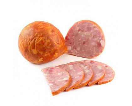 Колбаса ВЕТЧИННАЯ, вареная высший сорт натуральная оболочка, газ