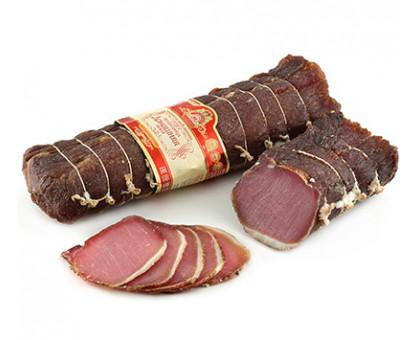 ПОЛЕНДВИЦА ДОМАШНЯЯ НОВАЯ продукт из мяса свинины сыровяленый, вакуум
