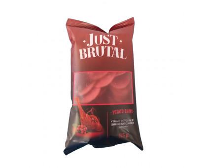 Чипсы картофельные КРАСНЫЕ Just Brutal утка с соусом из брусники 85г
