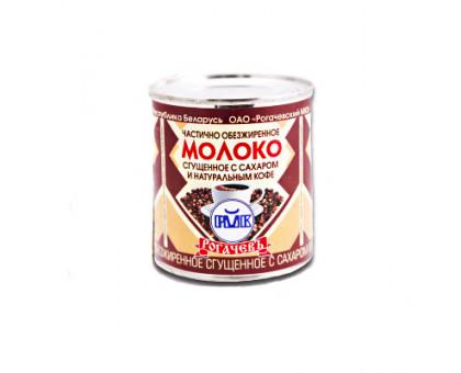 Молоко сгущеное с кофе 7% 380г ж/б Рогачев