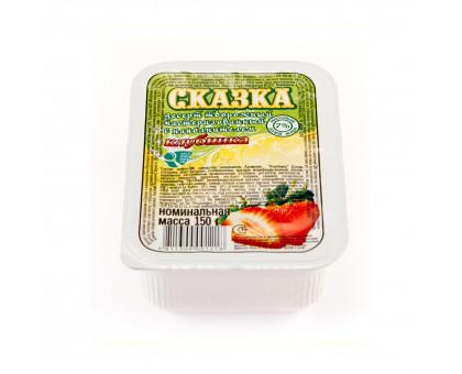 """Десерт творожный """"Сказка"""" м.д.ж. 7% в п/кор Клубника 150 гр"""