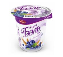 """Йогурт """"Бэль New"""" 1,5% 370г п/ст Т.М. """"Моя Славита"""" черника-мюсли"""