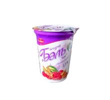 "Йогурт ""Бэль New"" 1,5% 370г п/ст Т.М. ""Моя Славита"" малина-злаки"