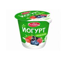 """Йогурт """"Моя Славита""""  п/стакан 140 гр 2% Лесная Ягода"""