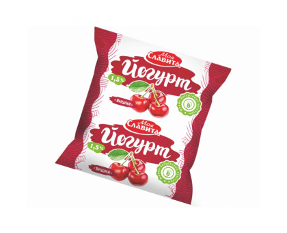 "Йогурт ""Моя Славита"" в ассорт в пленке м.д.ж. 1,5% Вишня 500г"