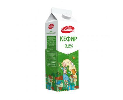Кефир Пюр-пак с крышечкой 3,2% 0,9 кг