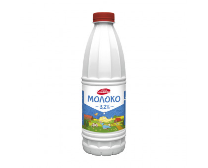 Молоко питьевое ультрапастер Пэт-бут.   м.д.ж. 3,2% 0,9л