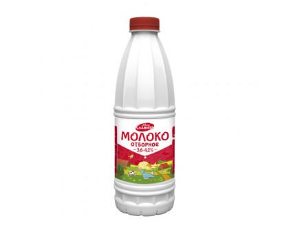 """Молоко питьевое ультрапастер """"Отборное"""" Пэт-бут   м.д.ж. 3,6-4,2% 0,9л"""
