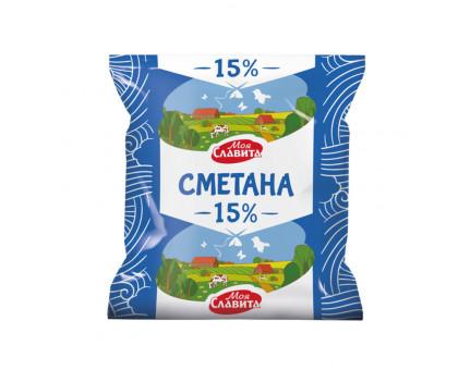 Сметана Моя Славита пленка  15%  0,4 кг