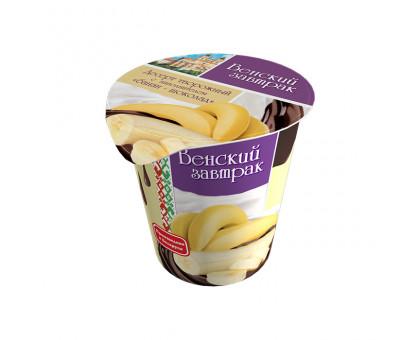 """Десерт """"Венский завтрак"""" 4,0% стакан 150 г банан с шок."""