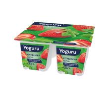 """Йогурт """"Yoguru"""" 2,5% стакан 125 г клубника"""