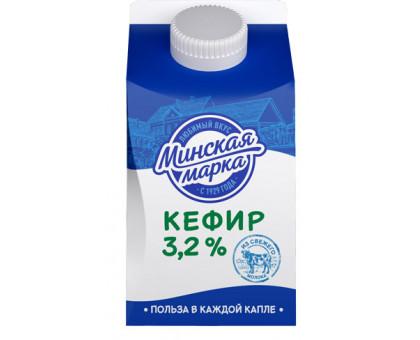 """Кефир """"Минская марка"""" 3,2% пюр-пак 0,5 кг"""