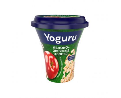 Коктейль творожный паст. Yoguru 2,9% яблоко-овсяные хлопья стакан 230 г
