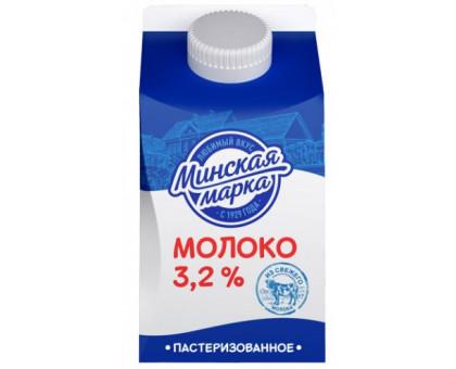 """Молоко паст. """"Минская марка"""" 3,2% пюр-пак 0,5 л"""