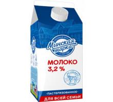 """Молоко паст. """"Минская марка"""" 3,2% пюр-пак 2,0 л"""