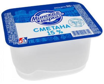 "Сметана ""Минская марка"" 15,0% стакан 300 г"
