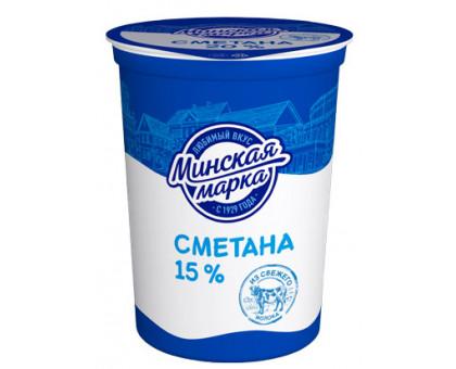 "Сметана ""Минская марка"" 15,0% стакан 380 г"