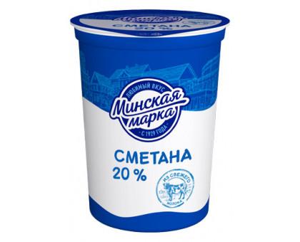 "Сметана ""Минская марка"" 20,0% стакан 380 г"