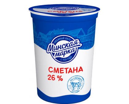 "Сметана ""Минская марка"" 26,0% стакан 380 г"