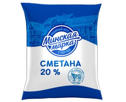 """Сметана """"Минская марка"""" 20,0% пленка 400 г"""
