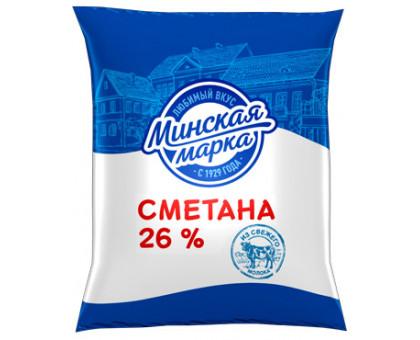 """Сметана """"Минская марка"""" 26,0% пленка 400 г"""