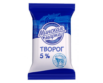 "Творог ""Минская марка"" 5% пленка 180 г"
