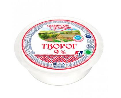 """Творог """"Слав. традиции"""" 9,0% т/усадка 355 г шайба"""