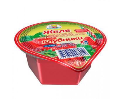 Желе на осн. мол. сыворотки стакан 150 г клубника
